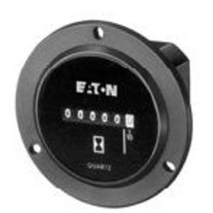 Eaton 6-T-3H-508RPM-406 E/m Hour Meter, 115vac, 2.8-in Round, 3-hole Flange