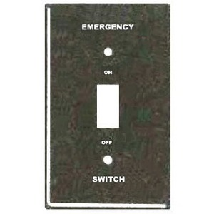 Mulberry Metal 41052 Switch Box Cover - Emergency Switch On/Off - Steel, Red