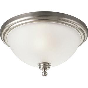 Progress Lighting P3312-09 Close to Ceiling Light, 2-Light, 60W, Brushed Nickel