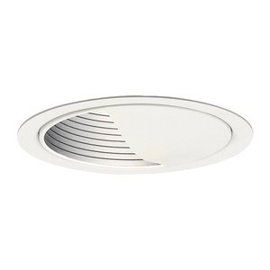 "Lightolier 1085 Basic Wall Washer Reflector Trim, 5"", White Baffle/White Trim"