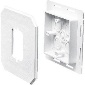 Arlington 8081F Siding Box Kit with Flange, Vertical, Weatherproof, Non-Metallic