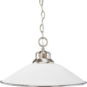 Progress Lighting P5013-09 Pendant, 1-Light, 100W, Brushed Nickel
