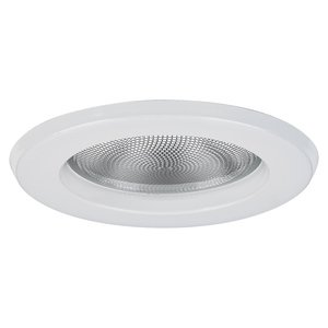 "Lightolier 1084WH Trim, 5"", Wet Location, Reflector Trim, Gloss White"
