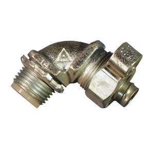 """Appleton STB-9050L Liquidtight Connector, 90°, 1/2"""", Malleable Iron, Insulated"""