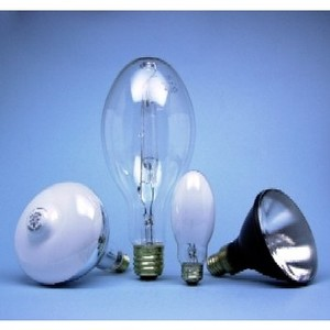 SYLVANIA H38AV-100/DX Mercury Vapor Lamp, E17, 100W, Coated