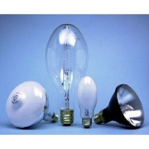 SYLVANIA H43AV-75/DX Mercury Vapor Lamp, E17, 75W, Coated