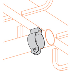 "Cooper B-Line BL1400 Conduit Hanger With Bolt, Rigid: 1/2"", EMT: 1/2"", Steel/Zinc"