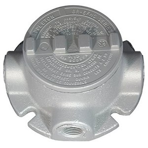 "Appleton GRFT50 Conduit Outlet Box, Type GRF, (2) 1/2"" Hubs, Malleable"