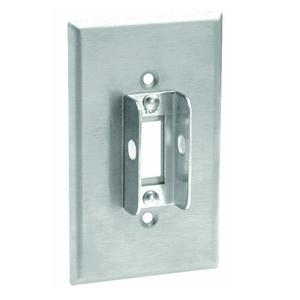 Leviton 84001-LOK Toggle Lockout Wallplate, 1-Gang, Stainless Steel, Standard