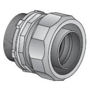 "EGS 4QS-450T Liquidtight Connector, 45°, 1/2"", Insulated, Steel"