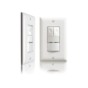 Wattstopper PW-200-W PIR Occupancy Sensor/Switch, Dual Relay, White