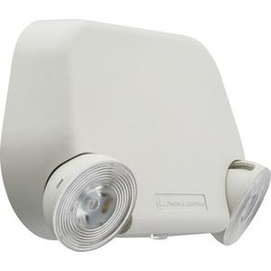 Lithonia Lighting EU2L-M12 Low Profile Emergency Light, 2-Head, 120/277V