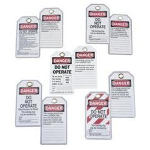 Ideal 44-849 Lockout Tags – Do Not Operate (striped)
