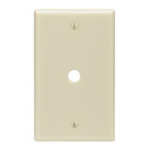 "Leviton PJ11-GY Telephone/Cable Wallplate, 1-Gang, .406"" Hole, Nylon, Gray, Midway"