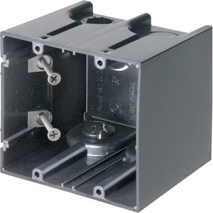 "Arlington F102 Switch/Outlet Box, 2-Gang, 3-1/2"" Deep, Non-Metallic"