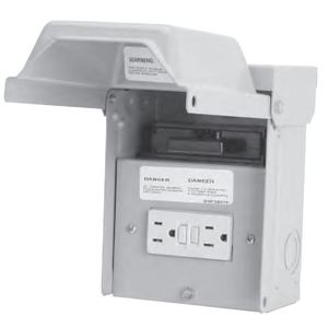 Midwest U065P010 Disconnect Switch, Pullout, 60A, 1P, 240VAC, GFCI Receptacle