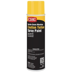 CRC 18201 Yellow Upside Down Marking Paint - 15oz Aerosol Can