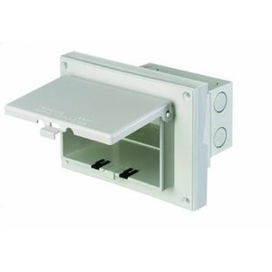 Arlington DBHR141W Weatherproof-In-Use Box, 1-Gang, Recessed, Horizontal, Non-Metallic