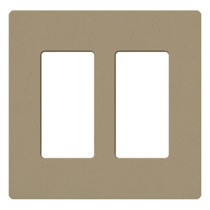 Lutron SC-2-MS Dimmer/Fan Control Wallplate, 2-Gang, Satin Series, Mocha Stone