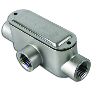 """Calbrite S60700TE00 Conduit Body, Type T, 3/4"""", Form 8, Stainless Steel"""