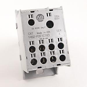 Allen-Bradley 1492-PDE1C183 Enclosed Power Distribution Block, 1-Pole, 2-Line, 8-Load, 335A