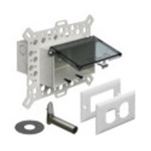 Arlington DBHM1C Weatherproof-In-Use Box, 1-Gang, Recessed, Horizontal, Non-Metallic