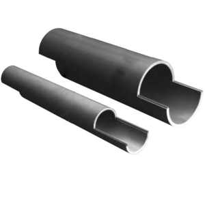 "Carlon 49011SD-010 Split Duct PVC Conduit, 2"", 10', Schedule 40"