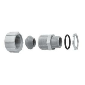 "Ipex 077754 Strain Relief Connector, 1/2"", Threaded, PVC"