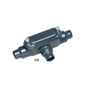 "Perma-Cote PMT75 Conduit Body, Type T, Size: 3/4"", Form 8, Steel/PVC Coated"