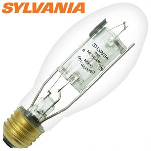SYLVANIA MP70/U/MED Metal Halide Lamp, Pulse Start, ED17, 70W, Clear