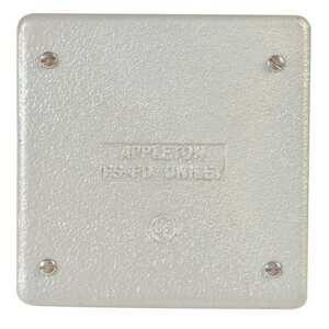 Appleton FSK-2B-CA FS/FD Cover, 2-Gang, Blank, Vapor Proof, Aluminum