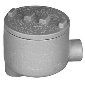 "Appleton GRLB50-A Conduit Outlet Box, Type GRLB, (2) 1/2"" Hubs, Aluminum"