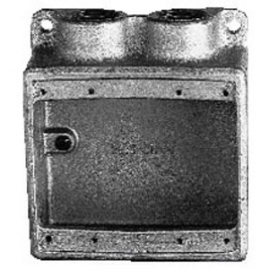 "Cooper Crouse-Hinds FSS222 FS Device Box, 2-Gang, Dead-End, Type FSS, 3/4"", Malleable Iron"