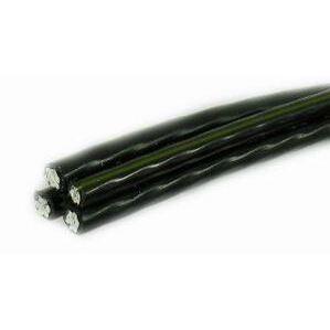 Multiple RUSTXLP1500RL Quadruplex, Aluminum, 250 kcmil Phase, 3/0 AWG Neutral, 600V URD