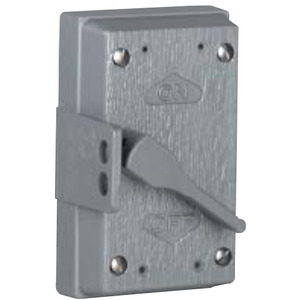 Hubbell-Killark FZ8647 Toggle Switch Cover, 1-Gang, Aluminum