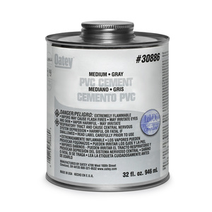 Morris Products 30886 PVC Medium Gray Cement - Quart