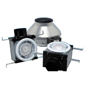 "Fantech PB270H2 In-Line Fan Kit, 4"" & 6"""" Ducts, 230 CFM, Halogen Light"