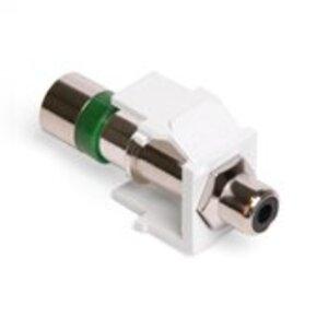 Leviton 40782-REW RCA Compression Connector, RG6 Quad, Black