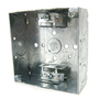 """Steel City 52151-X 4"""" Square Box, Welded, Metallic, 1-1/2"""" Deep, Limited Quantities Available"""