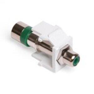 Leviton 40782-RVW RCA Compression Connector, RG6 Quad, Green