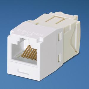 Panduit CJ688TGAW Snap In Connector, Mini-Com, TX6 PLUS UTP, Cat 6, White