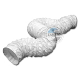 "Lambro 215 Ducting, Vinyl, Flexible, 3"" Dia., 50' Long, White"