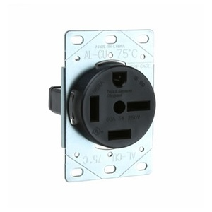 Pass & Seymour 5760 Receptacle, Flush Mount, 60 Amp, 250 Volt