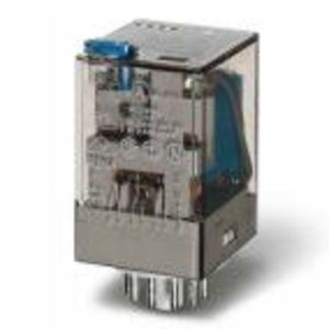 Finder Relays 60.13.8.120.0050 Relay, Ice Cube, Miniature, 11-Pin, 10A, 3P, 120VAC Coil, w/ Option