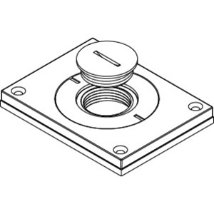 """Wiremold 830CKTCAL-1 Cover Plate, 1-Gang, 1"""" & 2"""" Screw Plugs, Aluminum"""