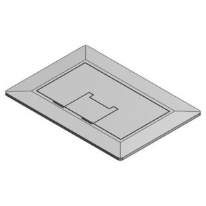 Carlon E9761SS Rectangular Floor Box Cover, 1-Gang, Type; Universal, Stainless Steel