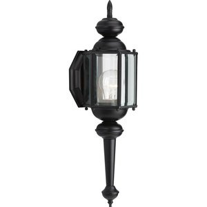 Progress Lighting P5758-31 Wall Lantern, Outdoor, 1-Light, 100W, Black