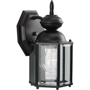 Progress Lighting P5756-31 Wall Lantern, Outdoor, 1-Light, 100W, Black