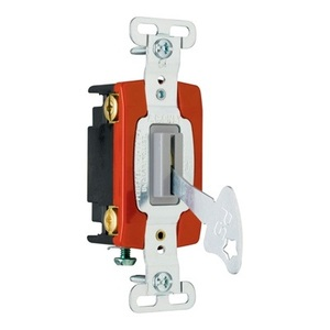 Pass & Seymour PS20AC4-L 4-Way Lock Switch, 20A, 120/277V, Brown