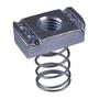 "Unistrut P1008-EG Spring Nut, 3/8-16 Thread, 3/8"", Steel/Electro-Galvanized"